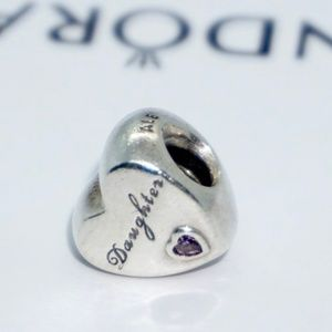 PANDORA Daughter's Love Heart Charm, 791726PCZ